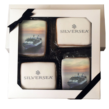 16 Rect. Shortbread Cookies in Iridescent Gift Box