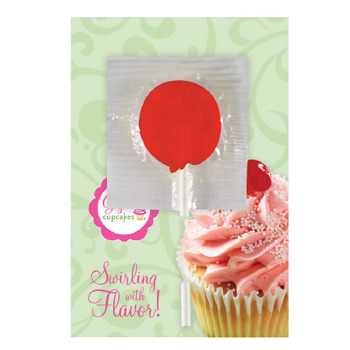 Greeting Card With Lollipop