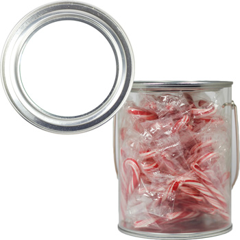 Clear Plastic Paint Can Pail