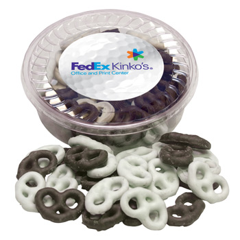 Designer Plastic Tray - Chocolate Covered Pretzel