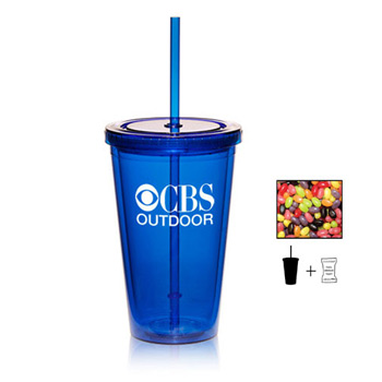 16 oz. Double Wall Tumbler With Red Hots, Jelly Beans, Gum